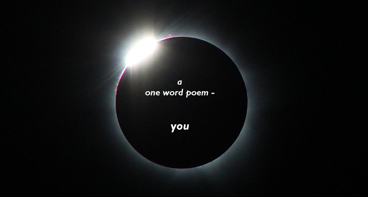 one word poem